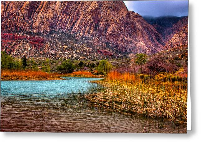 Oxide Greeting Cards - Red Rock Canyon Conservation Area Greeting Card by David Patterson
