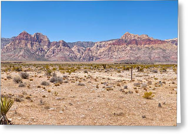 Red Rock Canyon Greeting Cards - Red Rock Canyon Near Las Vegas, Nevada Greeting Card by Panoramic Images