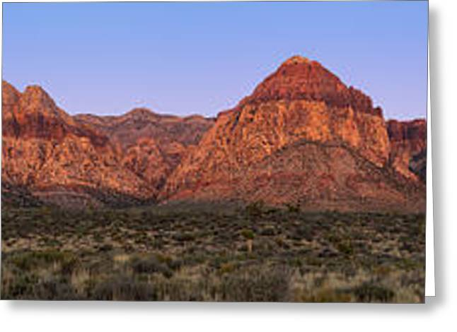 Geology Photographs Greeting Cards - Red Rock Canyon pano Greeting Card by Jane Rix