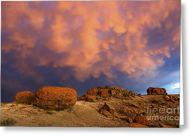 Red Rock Coulee Sunset 2 Greeting Card by Bob Christopher