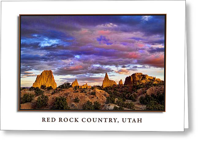 Slickrock Greeting Cards - Red Rock Country Utah Greeting Card by David Rigg