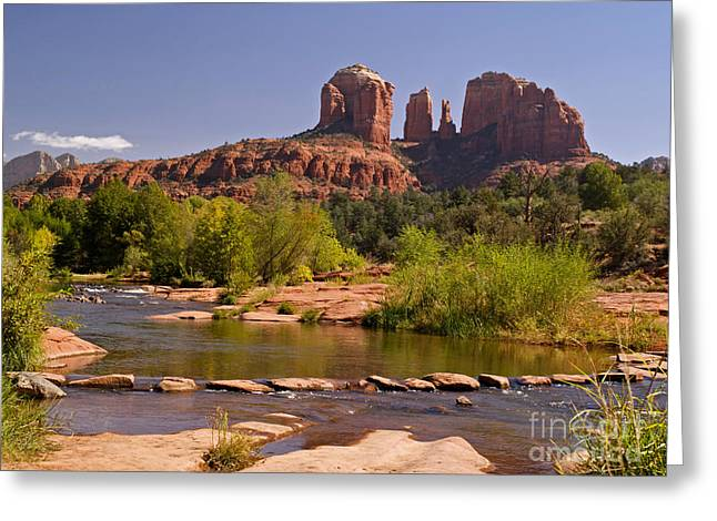 Red Rock Crossing Photographs Greeting Cards - Red Rock Crossing Greeting Card by Alex Cassels