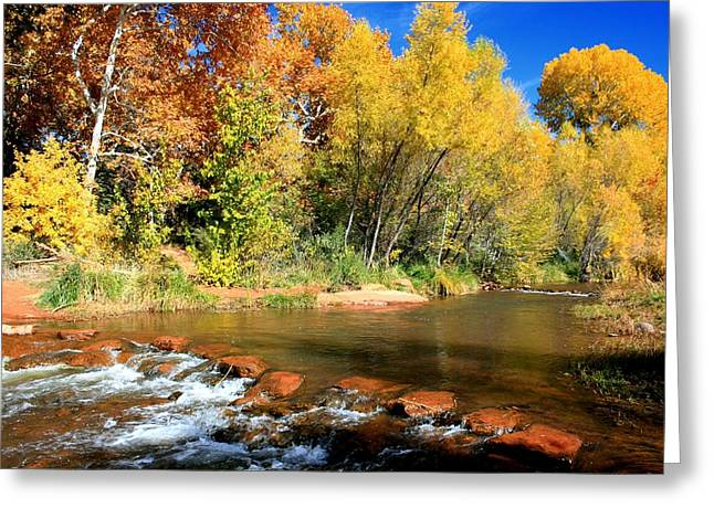 Red Rock Crossing Greeting Cards - Red Rock Crossing Greeting Card by Miles Stites