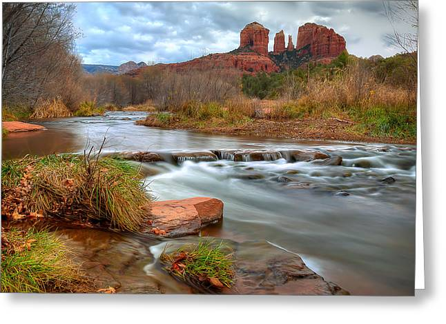 Red Rock Crossing Photographs Greeting Cards - Red Rock Crossing Greeting Card by Ryan Smith