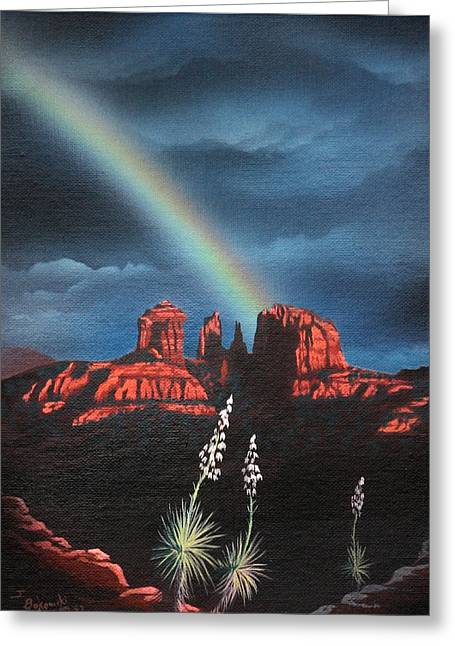 Red Rock Crossing Greeting Cards - Red Rock Crossing Sedona Arizona Greeting Card by Jerry Bokowski