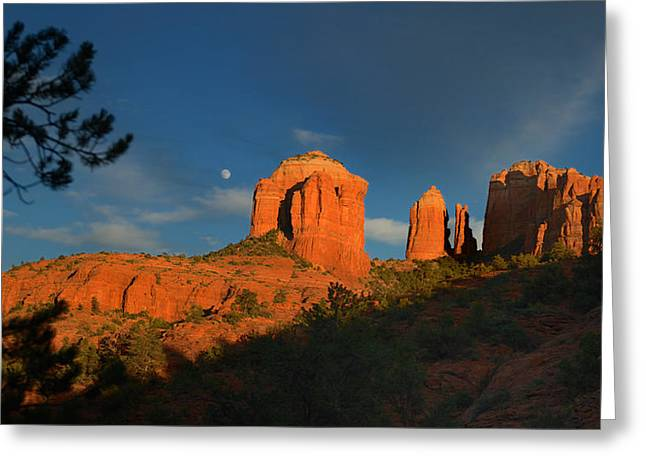 Red Rock Crossing Greeting Cards - Red Rock Crossing Greeting Card by Victor Q Flores