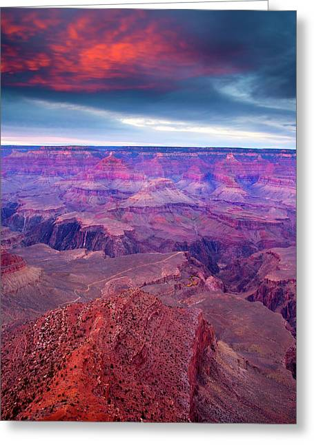 Plateaus Greeting Cards - Red Rock Dusk Greeting Card by Mike  Dawson