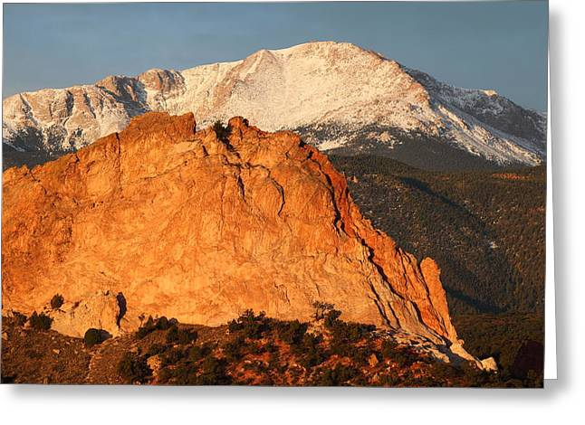 Monolith Greeting Cards - Red Rock Greeting Card by Eric Glaser