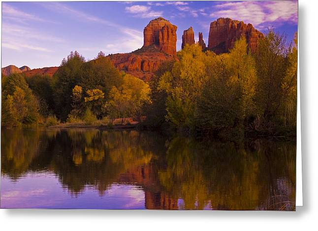 Red Rock Crossing Greeting Cards - Red Rock Hues Greeting Card by Tom Kelly