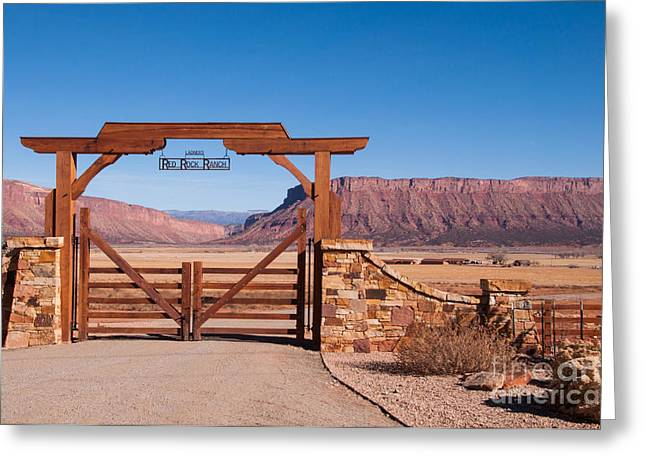 Red Rock Ranch Greeting Card by Bob and Nancy Kendrick
