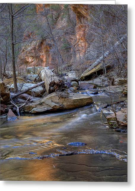 West Fork Greeting Cards - Red Rock Reflections Greeting Card by Sue Cullumber