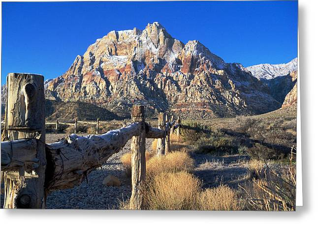 Sofa Size Greeting Cards - Red Rock Snow Greeting Card by Alan Socolik