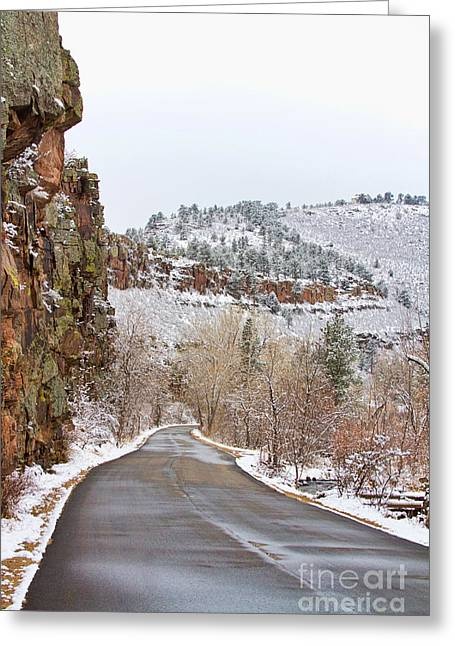 Scenic Drive Greeting Cards - Red Rock Winter Drive Greeting Card by James BO  Insogna