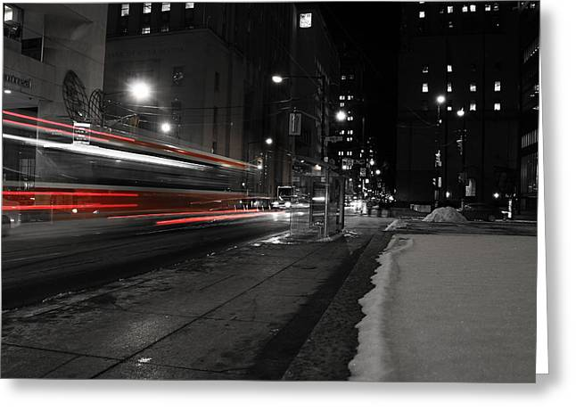 Tram Red Greeting Cards - Red Rocket Greeting Card by Andrew Fare