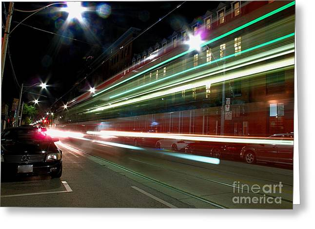 Toronto Transit Commission Greeting Cards - Red Rockets Glare Greeting Card by Chris Traber