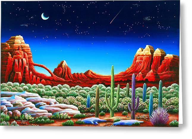 Imagined Landscape Greeting Cards - Red Rocks 5 Greeting Card by Andy Russell