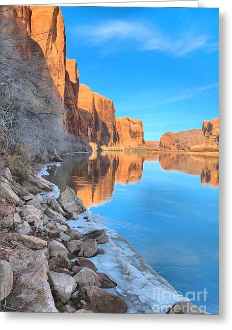 Southern Utah Greeting Cards - Red Rocks Above The Green River Greeting Card by Adam Jewell