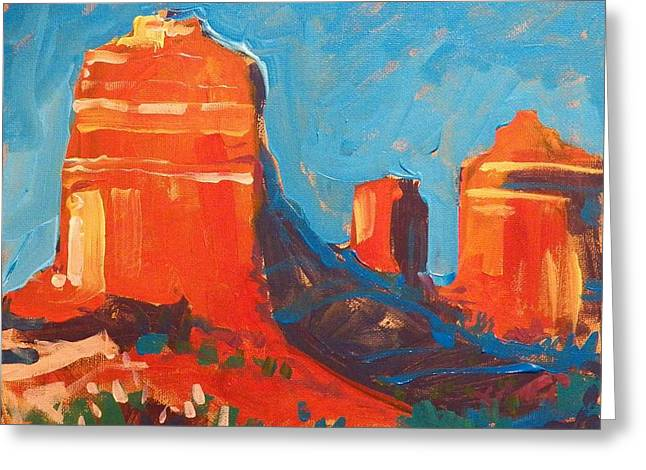 Edgar Payne Greeting Cards - Red Rocks at Sedona Greeting Card by Micheal Jones
