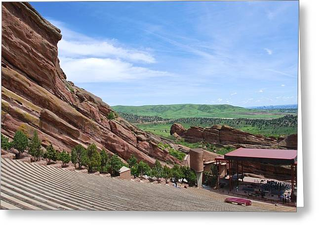 Red Rocks Greeting Card by Charlie and Norma Brock