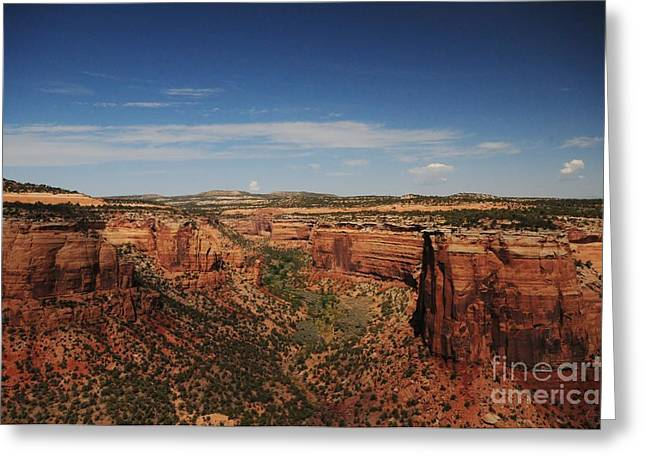 Struckle Greeting Cards - Red Rocks Greeting Card by Kathleen Struckle