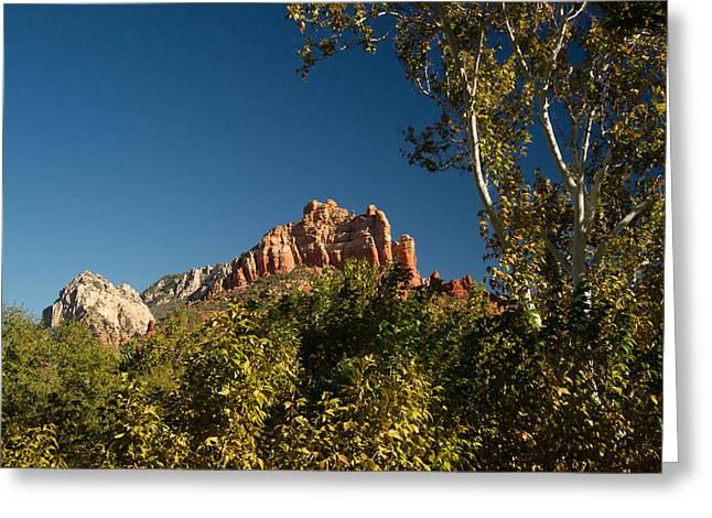 Oak Creek Greeting Cards - Red Rocks Oak Creek Canyon Sedona 2 Greeting Card by Douglas Barnett