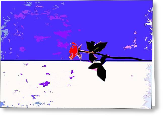 Romance Mixed Media Greeting Cards - Red Rose In The Snow Greeting Card by Patrick J Murphy