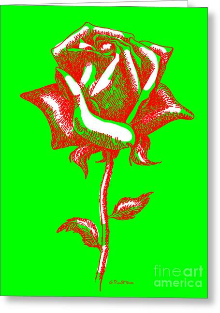 Rose Greeting Cards - Red Rose Paintings 2 Greeting Card by Gordon Punt