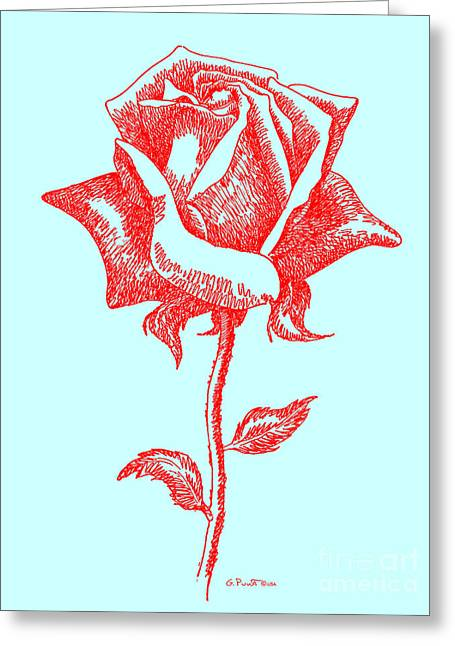 Red Roses 10 Greeting Card by Gordon Punt