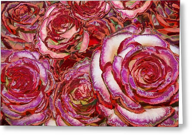 Valentines Day Greeting Cards - Red Roses Painting Greeting Card by Alixandra Mullins