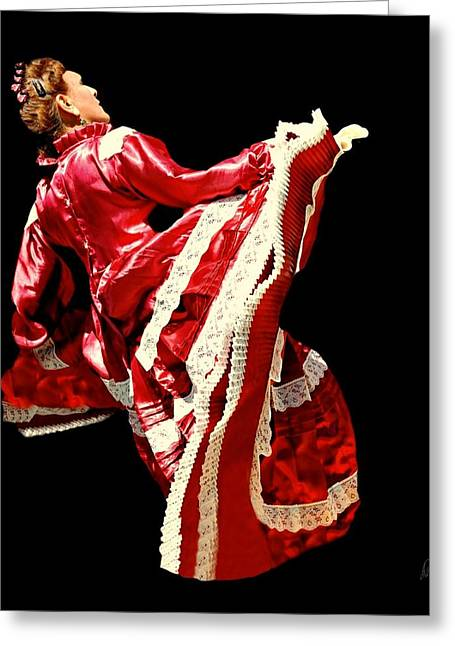 Satin Skirt Greeting Cards - Red Ruby Greeting Card by Diana Angstadt