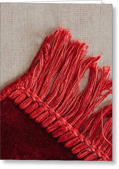 Interior Still Life Photographs Greeting Cards - Red rug Greeting Card by Tom Gowanlock