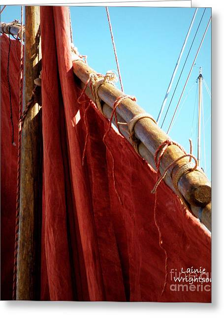 St.tropez Greeting Cards - Red Sails Greeting Card by Lainie Wrightson