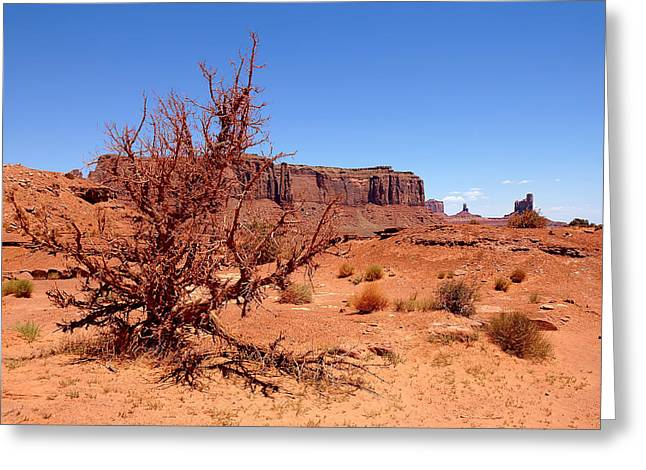 Old West Postcards Greeting Cards - Red Sands Greeting Card by Lanis Rossi