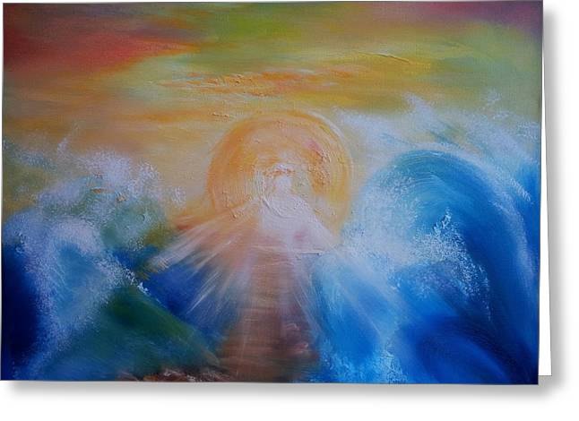 The Sun God Greeting Cards - Red Sea Greeting Card by Carol-marie Verster