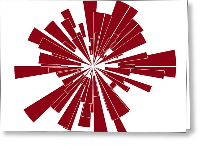 Red Shape Greeting Card by Frank Tschakert