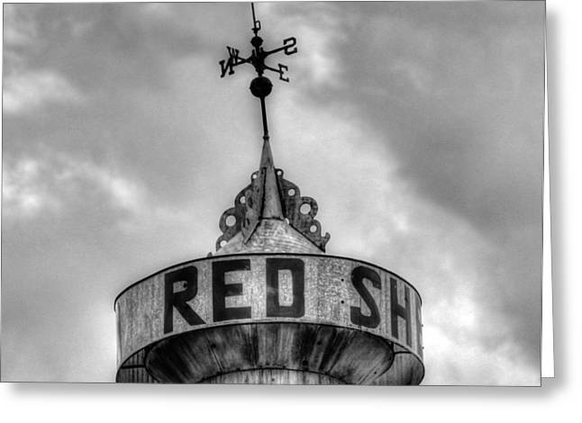 Weathervane Greeting Cards - Red Shed Greeting Card by Vintage Country  Memories