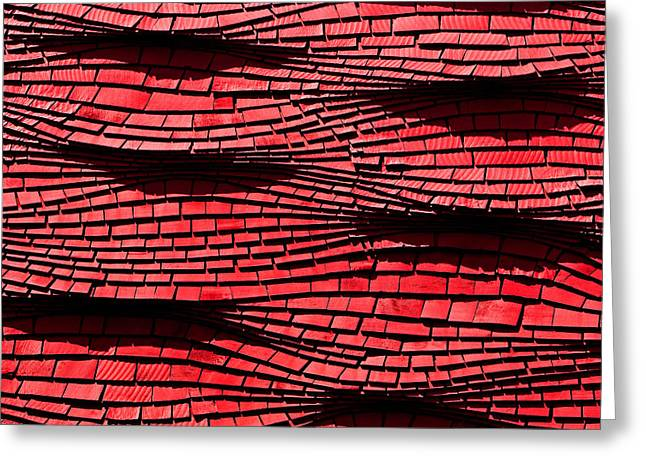 Roof Covering Greeting Cards - Red Shingles Greeting Card by Art Block Collections