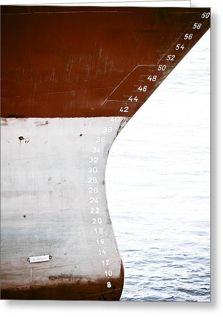 Red Ship Greeting Card by Frank Tschakert