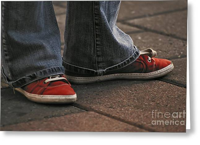 Aimelle Photographs Greeting Cards - Red Shoes Greeting Card by Aimelle