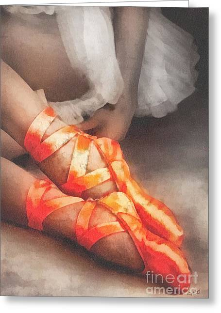 Red Shoes Greeting Cards - Red Shoes Greeting Card by Mo T