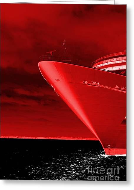 Protected Sea Life Greeting Cards - Red Sky at Morning ... Sailors Take Warning Greeting Card by Luke Moore