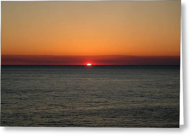 Panama City Beach Greeting Cards - Red Sky at Night Greeting Card by Roe Rader