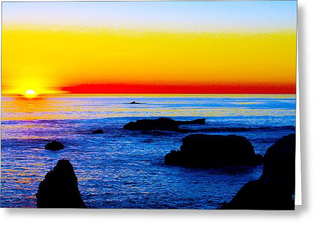 Surf Photos Art Greeting Cards - Red Sky At Night Sailors Delight Greeting Card by Barbara Snyder