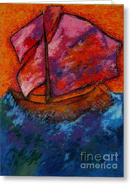 Amazing Pastels Greeting Cards - Red sky at night sailors delight Greeting Card by Jon Kittleson