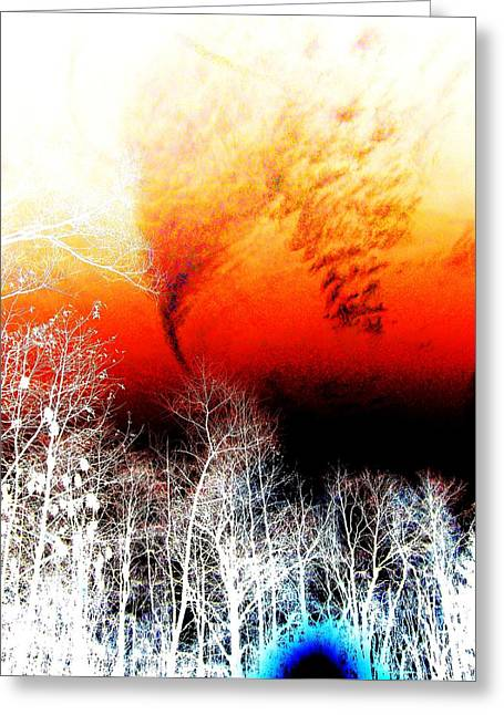 Print Photographs Greeting Cards - Red Sky Greeting Card by Dietrich ralph  Katz