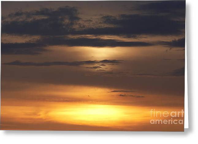 Gloaming Greeting Cards - Red Sky - Gloaming Greeting Card by Michal Boubin