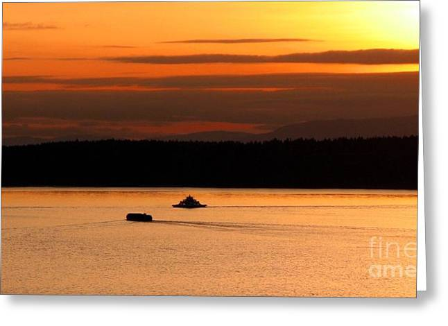 South Puget Sound Greeting Cards - Red Sound Greeting Card by Chris Anderson