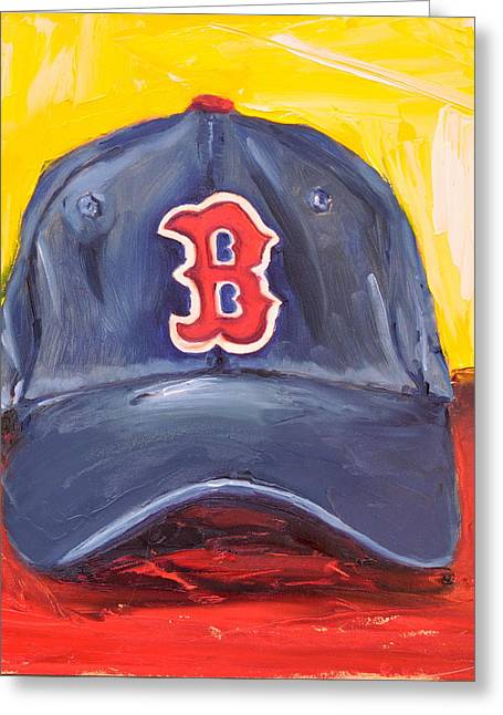 Red Sox Paintings Greeting Cards - Red Sox Greeting Card by Lindsay Frost