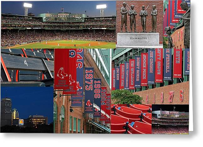 Press Box Greeting Cards - Red Sox Nation Greeting Card by Juergen Roth