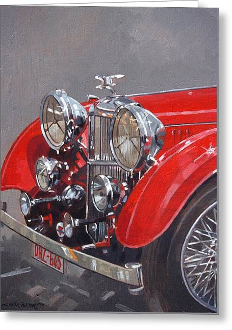 Red Sp 25 Alvis  Greeting Card by Peter Miller